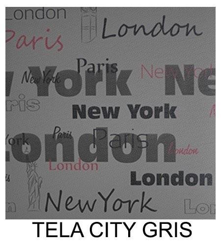 Tela DECORATIVA City GRIS
